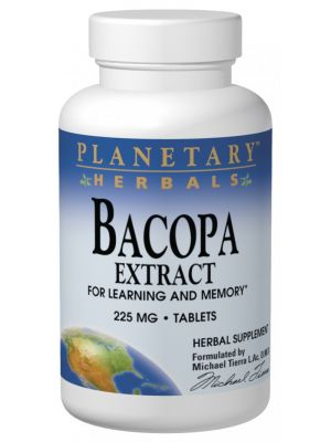 Planetary Herbals Bacopa Extract 225mg 120 Tabs