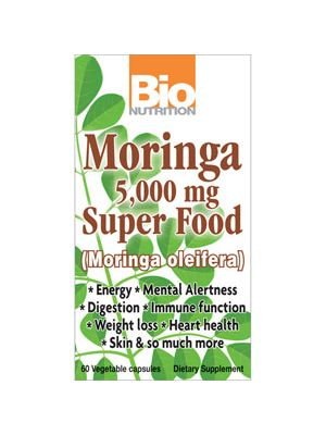 Bio Nutrition Moringa 5000mg 60 Vege Caps