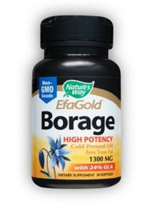 Nature's Way Efa Gold Borage Oil 1300mg with 312mg GLA 60 Gels