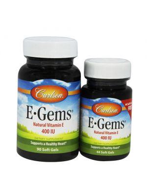 Carlson E-Gems 400IU 134 Gels (90+44 Free)