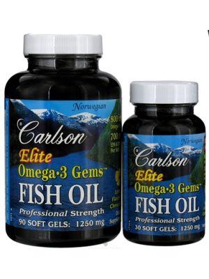 Carlson Elite Omega 3 1250mg 120 Gels (90+30 Free)