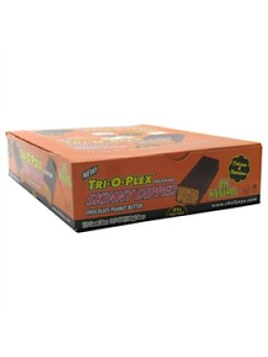 Chef Jay's Tri-O-Plex Skinny Dipped Bar Chocolate Peanut Butter 12 - 3.5oz (100g) Bars
