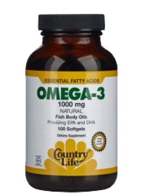 Country Life Omega-3 Fish Oil Essential Fatty Acids