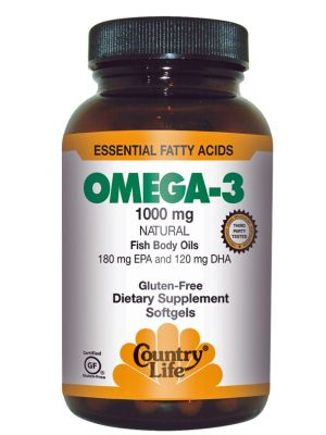 Country Life Omega-3 Fish Oil 1000mg 200 Softgels
