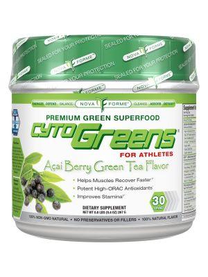 NovaForme CytoGreens For Athletes Acai Berry Green Tea 30 Servings
