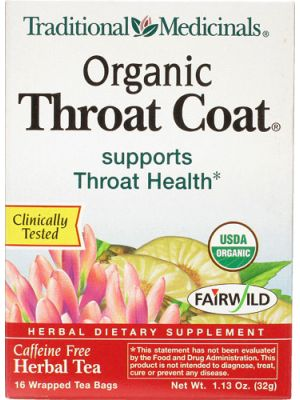 Traditional Medicinals Throat Coat Tea 16 Bags