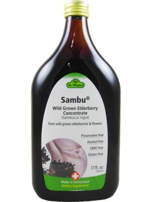 Flora (Udo's Choice) Dr. Dunner Sambu Wild Grown Elderberry Concentrate 17 Fl Oz
