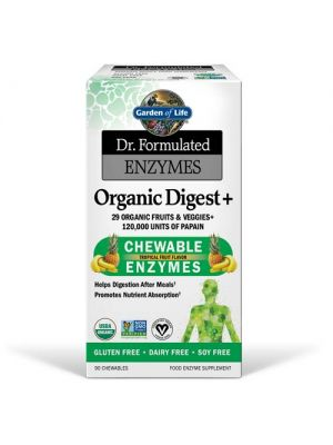 Garden of Life Dr. Formulated Enzymes Organic Digest+ 90 Chewables