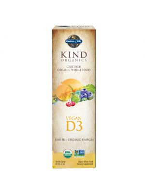 MyKind Organics Vegan D3 (Non-GMO) Vanilla Spray 2 Oz