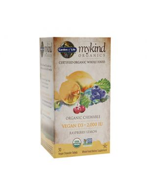 Garden of Life Kind Organics Vegan D3 Rasperry-Lemon 2000iu 30VCT