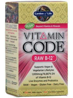 Garden of Life Vitamin Code Raw B-12 30 Vege Caps