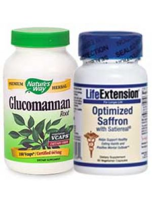 Glucomannan & Saffron Extract Weight Loss Stack