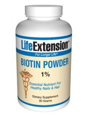 Life Extension Biotin 30 grams
