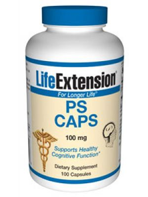 Life Extension PS (Pure Phosphatidylserine) CAPS 100 mg 100 Caps