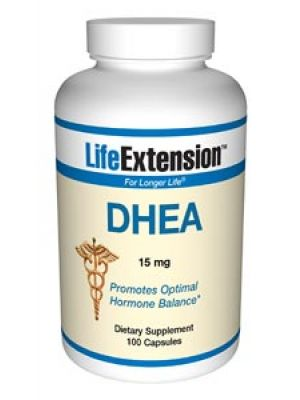 Life Extension DHEA (Dehydroepiandrosterone) 15mg 100 Caps