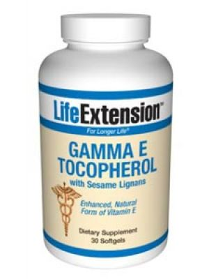 Life Extension Gamma E Tocopherol with Sesame Lignans 30 Softgels
