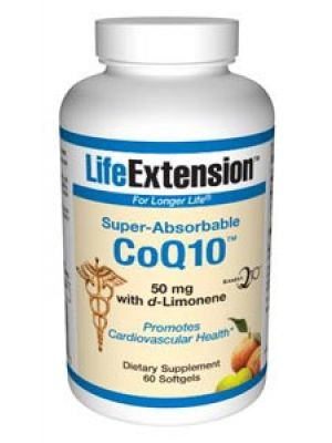 Life Extension Super-Absorbable CoQ10 with d-Limonene 50 mg 60 Softgels