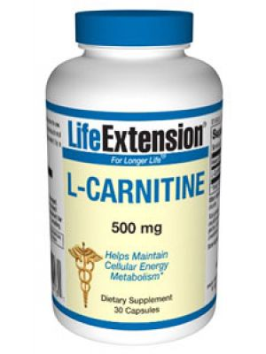 Life Extension L-Carnitine 500mg 30 Caps