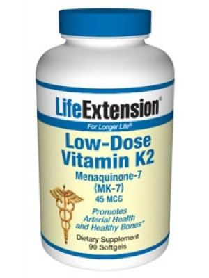 Life Extension Low-Dose Vitamin K2 Menaquinone-7 (MK-7) 90SG