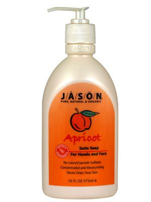 Jason Apricot Hand and Body Satin Soap 16 Oz.