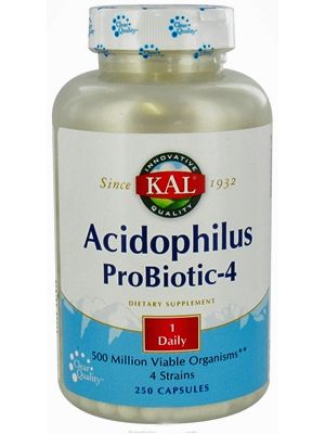 Kal Acidophilus Probiotic-4 250 Vege Caps