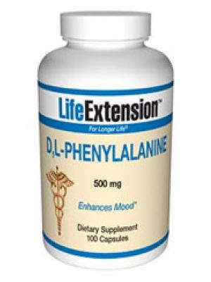 Life Extension D,L-Phenylalanine 500mg 100 Caps