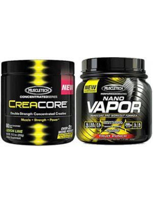 Muscletech CreaCore & NanoVapor Stack + Free T-Shirt