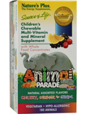 Nature's Plus Animal Parade Chewable Multi Assorted Flavors 180 Chews
