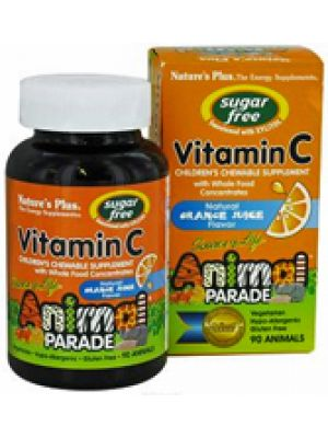 Nature's Plus Animal Parade Children's Chewable Vitamin C Orange Flavor 90 Chews