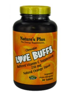 Nature's Plus Love buffs Chewable Vitamin C 250mg 90 Tabs