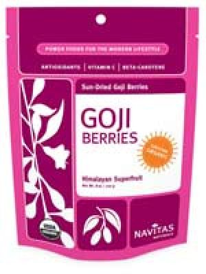 Navitas Naturals Sun-Dried Goji Berries (Certified Organic) 8 Oz