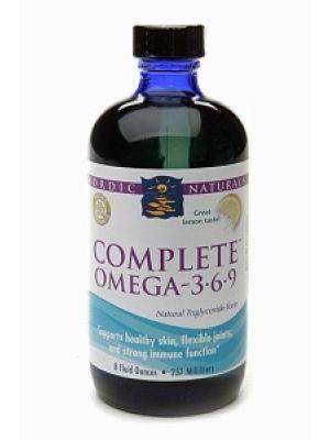 Nordic Naturals Complete Omega 3-6-9 Liquid Lemon 8 Fl Oz