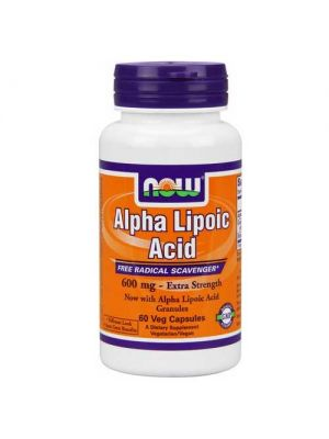 Now Foods Alpha Lipoic Acid 600 Mg 60 Vegetable Capsules