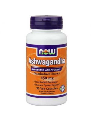 Now Foods Ashwagandha Ext 450 Mg 90 Vegetable Capsules