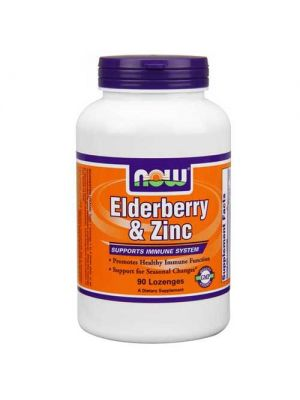 Now Foods Elderberry & Zinc 90 Lozenges