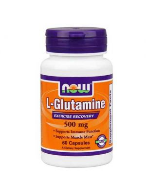 Now Foods Glutamine 500 Mg 60 Capsules