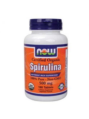 Now Foods Organic Spirulina 500 Mg 180 Tablets
