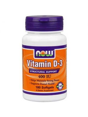 Now Foods Vit D-400 IU 180 Softgels