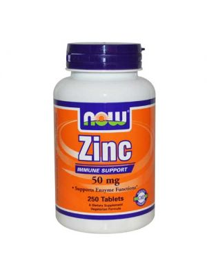 Now Foods Zinc Gluconate 50 Mg 250 Tablets