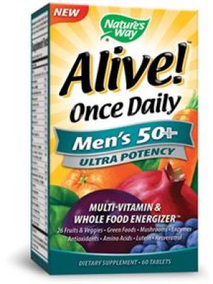 Nature's Way Alive! Once Daily Men's 50+ 60 Tabs