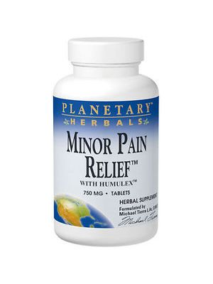 Planetary Herbals Minor Pain Relief 750mg 60 Tabs