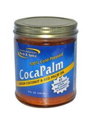 Virgin CocaPalm Red Palm Oil 8 Fl Oz