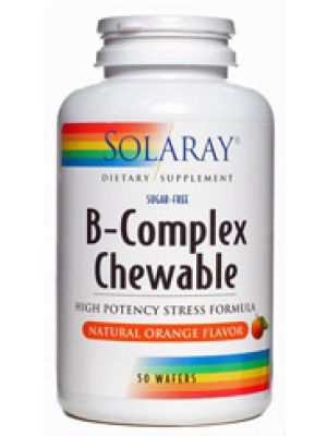 Solaray B-Complex Chewable Natural Orange Flavor 50 Wafers