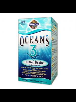 Garden of Life Oceans 3 Better Brain w/OmegaXanthin 90 Gels