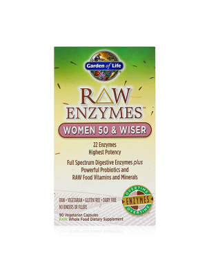 Garden of Life Raw Enzymes Women 50 and Wiser 90 Vege Caps