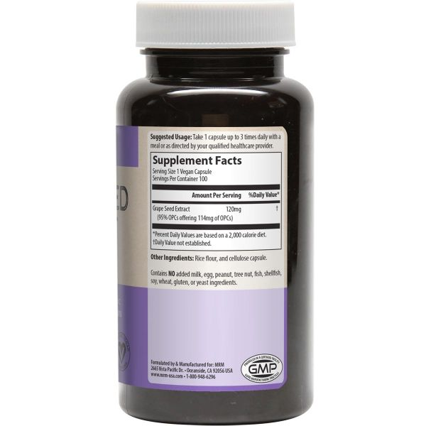 MRM Grape Seed Extract Facts