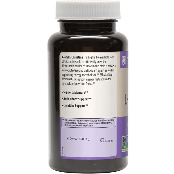 MRM Acetyl L-Carnitine Side 2 500mg