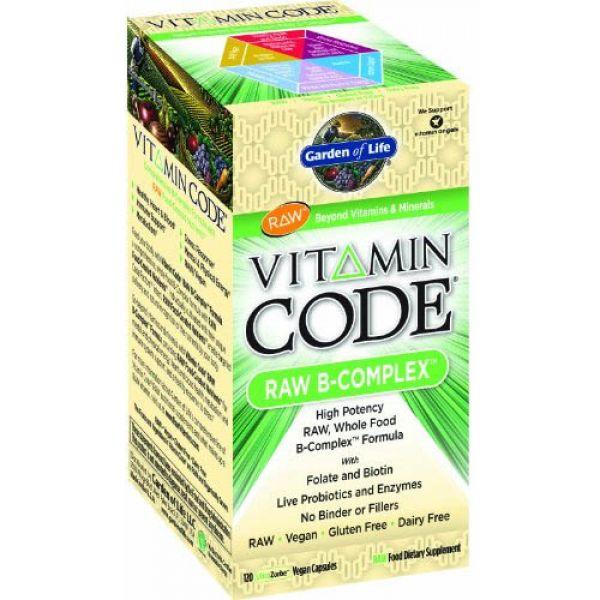 Garden Of Life Vitamin Code Raw B Complex Vegan 120 Vegetarian Capsules