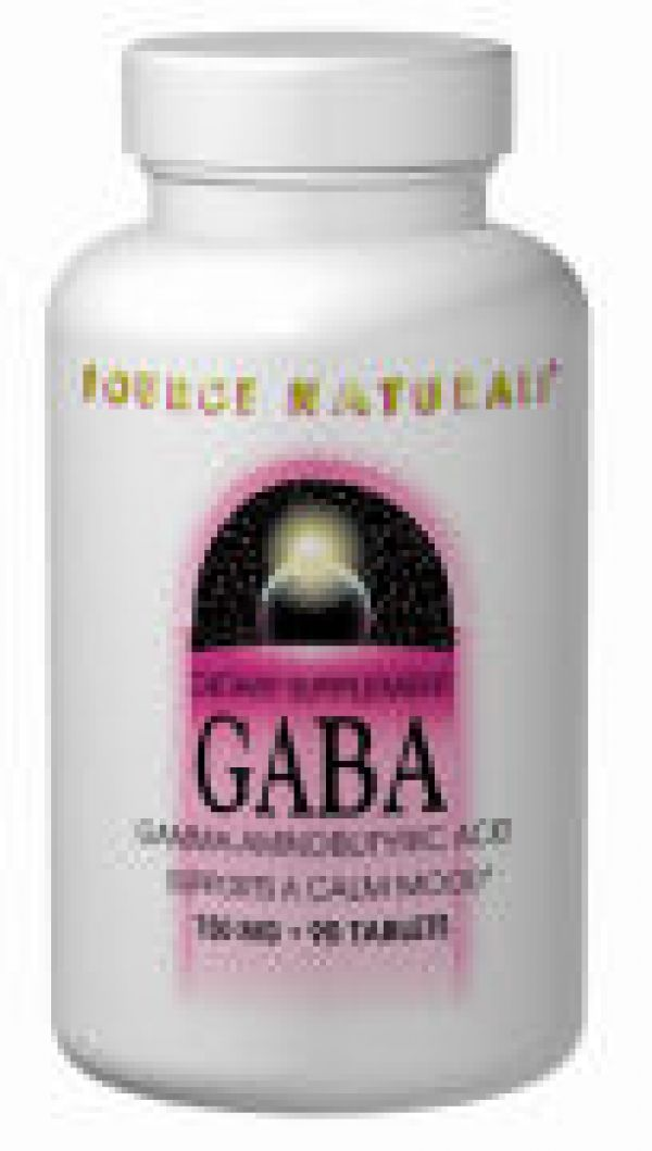 Source Naturals GABA 750mg 45 Tablets