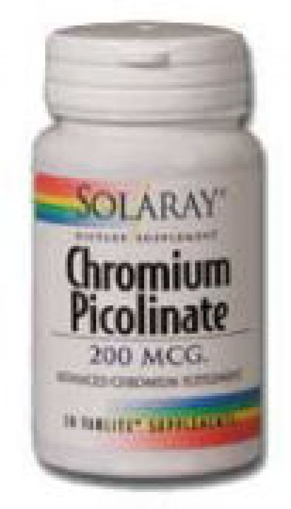 Solaray Chromium Picolinate 200mcg 100 tabs